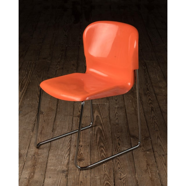 """This is a set of 6 iconic Gerd Lange """"Swing"""" chairs stamped 6/1976. The pieces were made is West Germany in a great Pop..."""