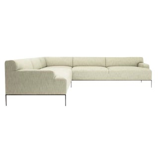 Modern White Stiletto Sectional For Sale