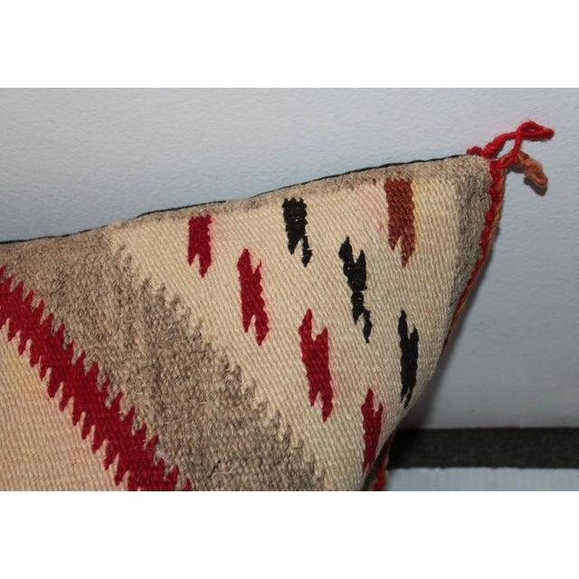 1920s Monumental Navajo Weaving Eye Dazzler Pillow For Sale - Image 5 of 8