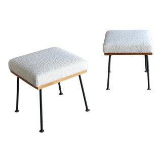 1950s Raymond Loewy Stools for Mengel Furniture Company - a Pair For Sale
