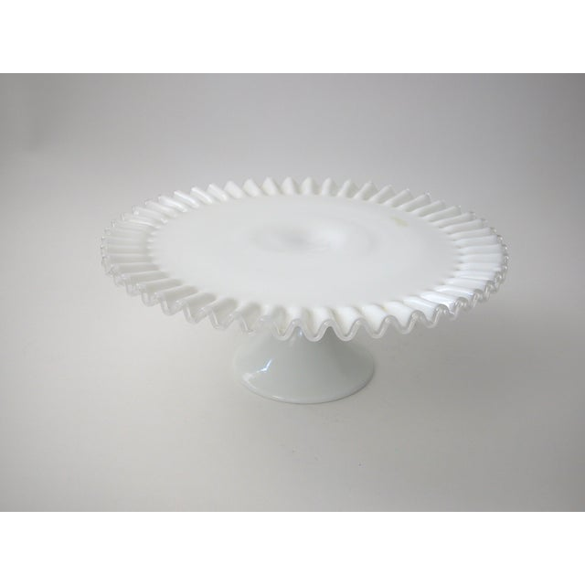 Fenton Silver Crest Cake Stand For Sale In New York - Image 6 of 7