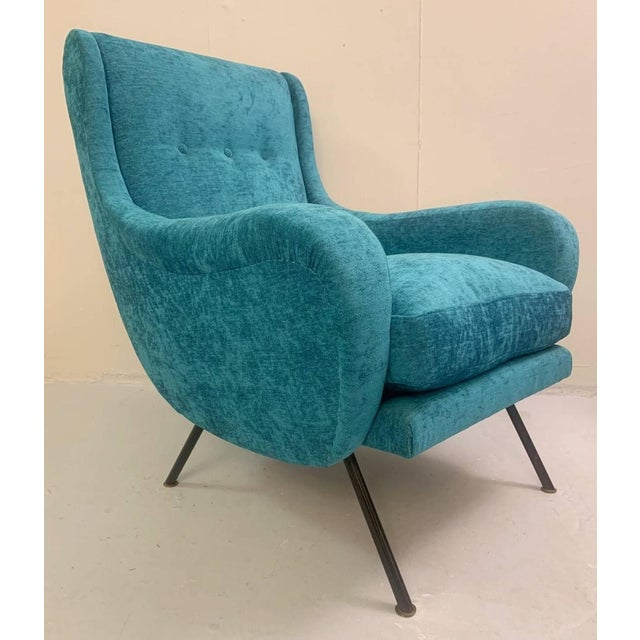 1950s Italian Armchairs- A Pair For Sale - Image 4 of 6