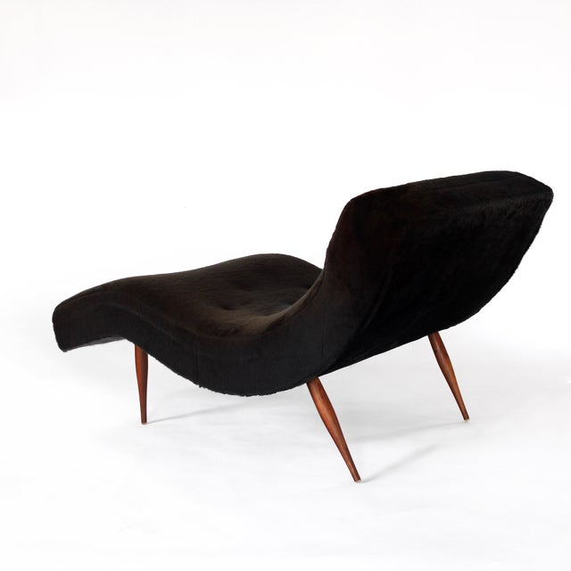 Craft Associates Adrian Pearsall for Craft Associates Mid-Century Modern Wave Chaise Lounge Chair For Sale - Image 4 of 6