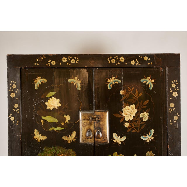 Rare Pair of 18th Century Chinese Cabinets For Sale - Image 4 of 11