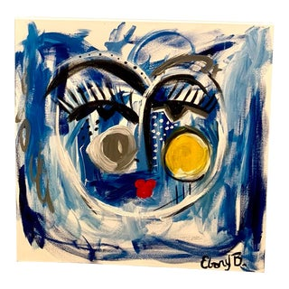 """Ebony Boyd """"Leontyne"""" Abstract Face Painting For Sale"""
