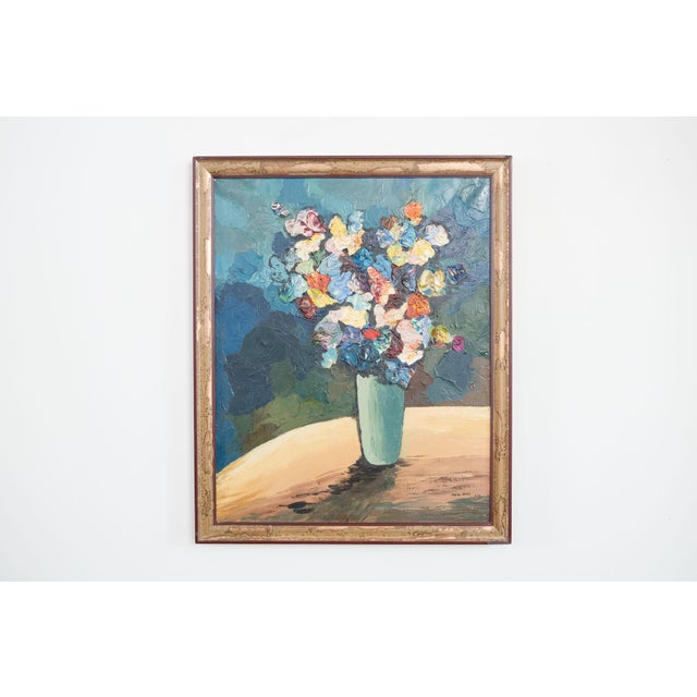 1960s 1960s Floral Still Life by Zerva Duffer For Sale - Image 5 of 5