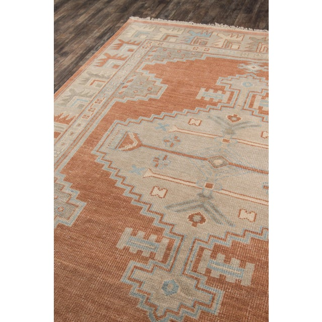 """Textile Erin Gates Concord Walden Rust Hand Knotted Wool Area Rug 5'6"""" X 8'6"""" For Sale - Image 7 of 8"""