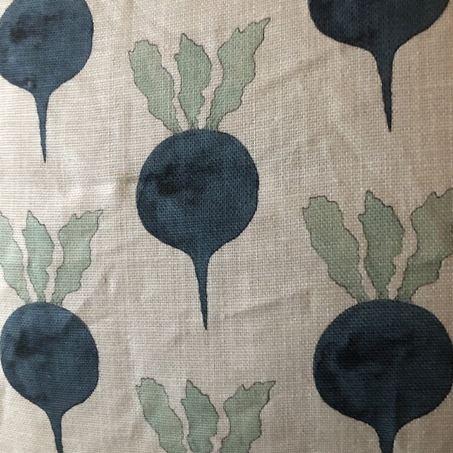 Just fabulous radish/ indigo set of two pillows custom made with small Samuel and son trim . Made with invisible zipper...