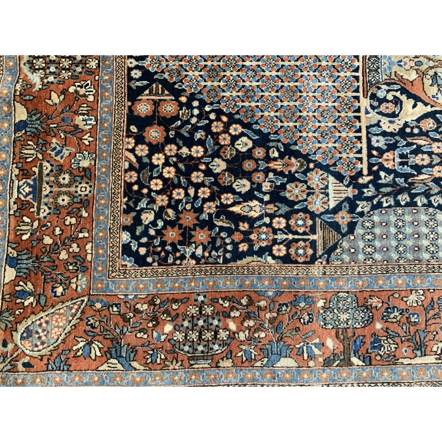 1910s Antique Persian Kashan Rug- 4′ × 6′6″ For Sale - Image 4 of 12
