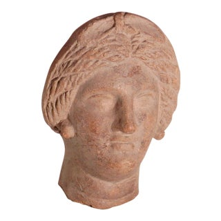 Antique Terracotta Roman Woman Bust For Sale