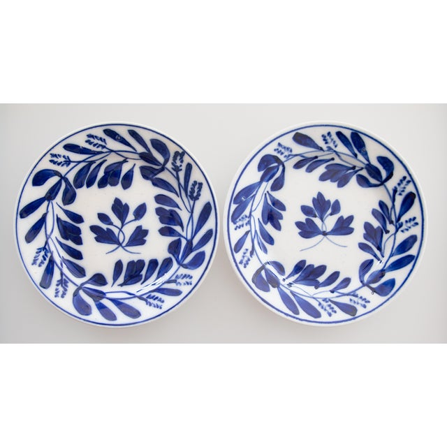Ceramic Antique Dutch Delft Maastricht Plates - a Pair For Sale - Image 7 of 7