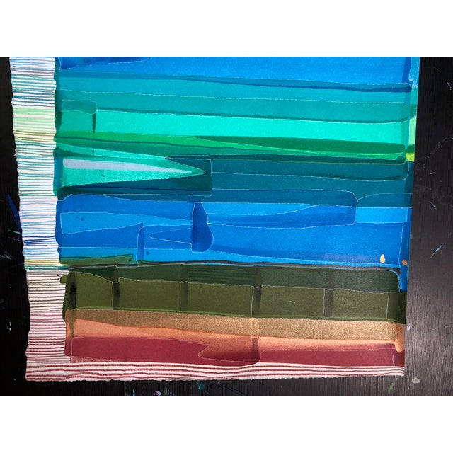 """2020s """"Chromatic Scale"""" Contemporary Abstract Acrylic Painting on Paper by Jess Csanky For Sale - Image 5 of 5"""