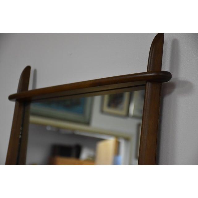Ward Furniture Walnut Dresser & Mirror - Image 8 of 10