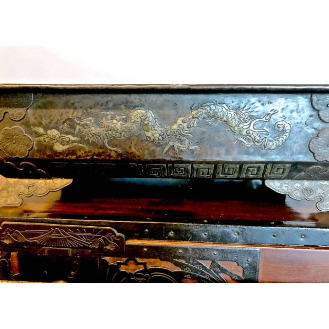Bronze Planter or Hibachi, Edo Period For Sale - Image 4 of 7