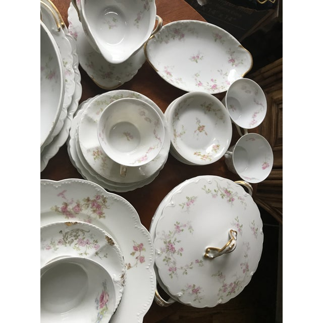 Gorgeous 1900's Theodore Haviland Limoges, France, Pink Rose. partial set 34 with few mix and match dishes of the same...