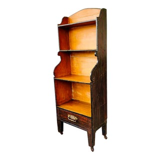 Antique English Chinoiserie Etagere Bookshelf For Sale