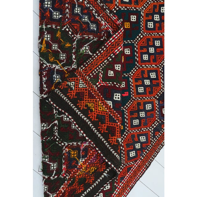 Vintage Turkish Kilim Rug For Sale - Image 12 of 13