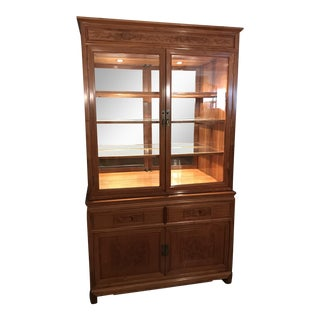 Hand Carved Rosewood China Display Cabinet