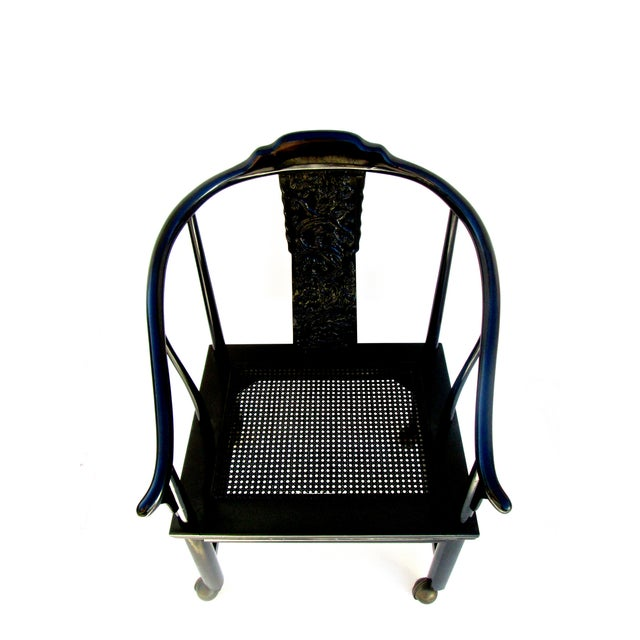 Vintage James Mont Lacquered Ming Chair - Image 4 of 7