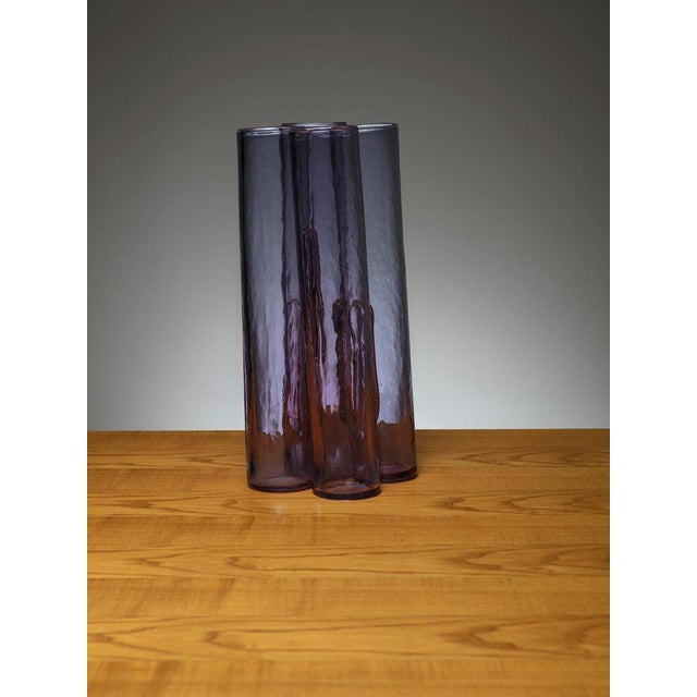 Modern Purple Murano Glass Vase by Barbini For Sale - Image 3 of 3
