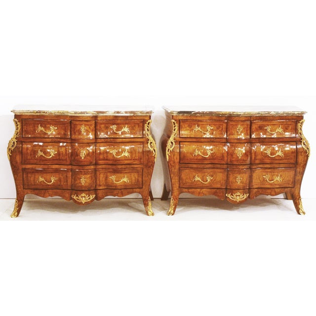 French Style Bombe Commodes- A Pair - Image 2 of 9