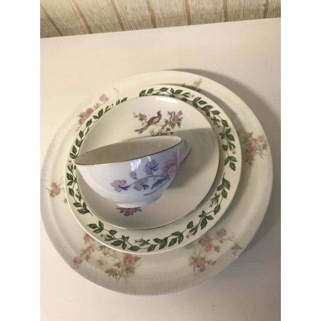 Vintage Fine China Table Setting For Sale In Sacramento - Image 6 of 10