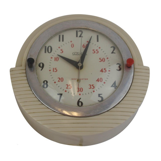 Telechron Minitmaster Kitchen Wall Clock For Sale