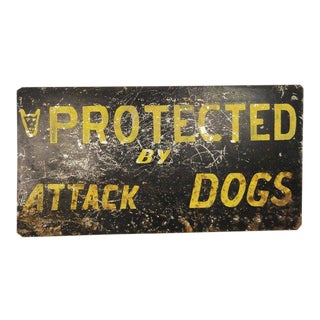 Alphabet City Narcotics Stash House Attack Dogs Sign, c.1960 NYC For Sale