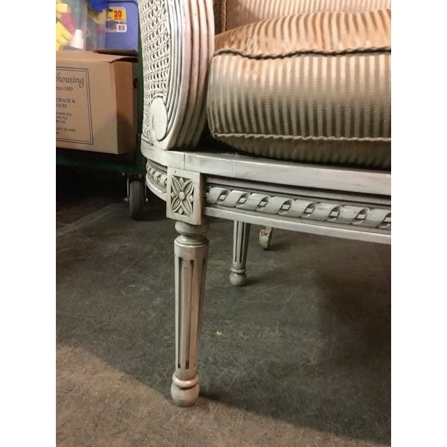 Louis XVI-Style Caned Settee - Image 4 of 5