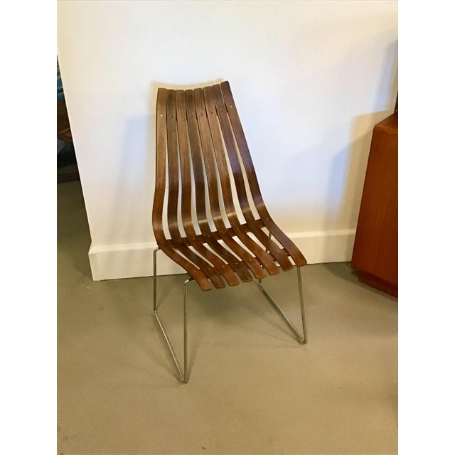 "Rare high back ""Scandia"" chair designed by Hans Brattrud for Hove Mobler. A beautiful example of fine Scandinavian Modern..."