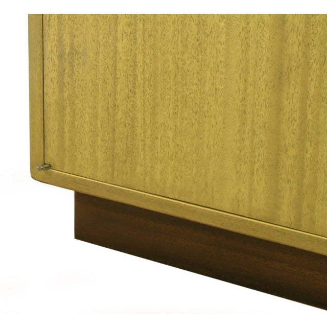 Brown Harvey Probber Bleached Ribbon Mahogany Long Cabinet For Sale - Image 8 of 9