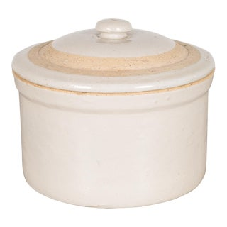 Stoneware Pottery Crock With Lid C. 1980 For Sale