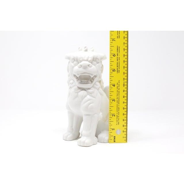 Vintage Blanc De Chine Foo Dog Figurine For Sale - Image 11 of 12
