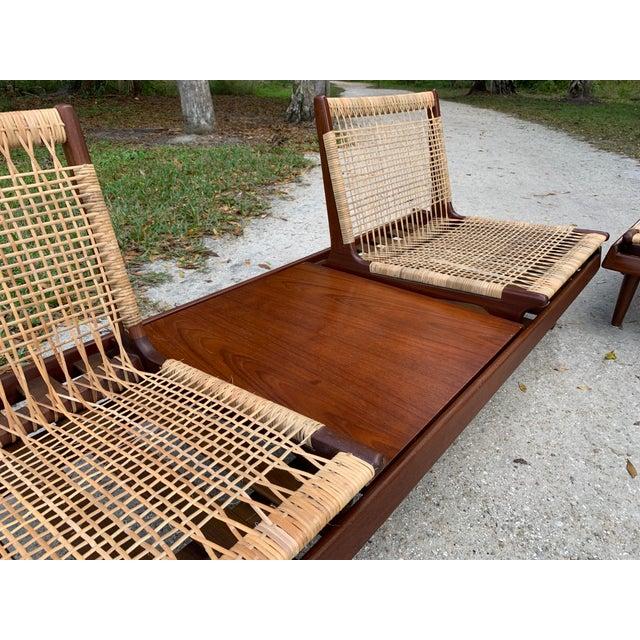 Hans Olsen Hans Olsen for Bramin Mid-Century Modern Scandinavian Modular Bench Sofa and Loveseat-A Pair For Sale - Image 4 of 13