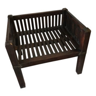 Solid Wood Square Occasional Chair For Sale