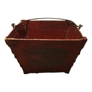 French Country Wooden Box For Sale