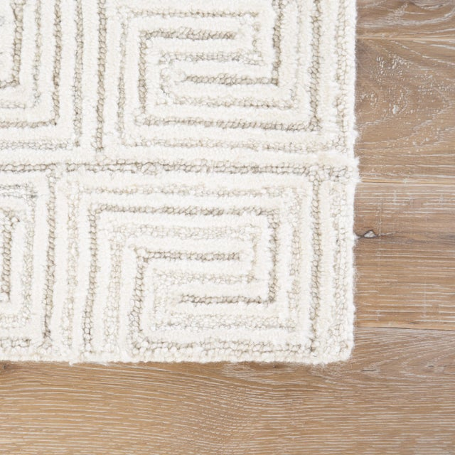 Contemporary Jaipur Living Harkness Handmade Geometric White/ Gray Area Rug - 8′ × 11′ For Sale - Image 3 of 6
