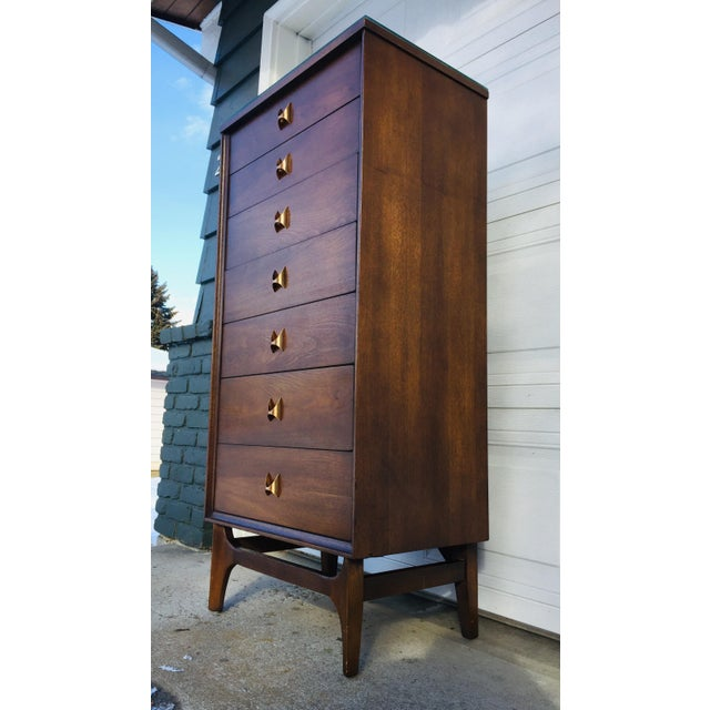 b9fc0b2a6 Gorgeous walnut mid-century modern Broyhill Brasilia 7 drawer lingerie  dresser made. This piece