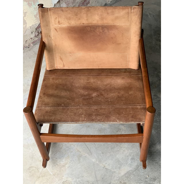 Designed from Brazilian artist Michel Arnoult this 1970's leather rocker has stood the test of time . Built from the best...