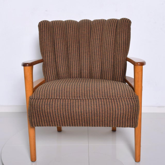 1950s Mid Century Modern Heywood Wakefield Maple Lounge Chair For Sale - Image 12 of 12