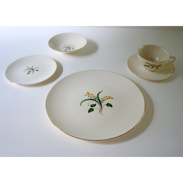 Mid-Century Modern 1960s Vintage Knowles Forsythia Dinnerware Service Set - 44 Pieces For Sale - Image 3 of 13