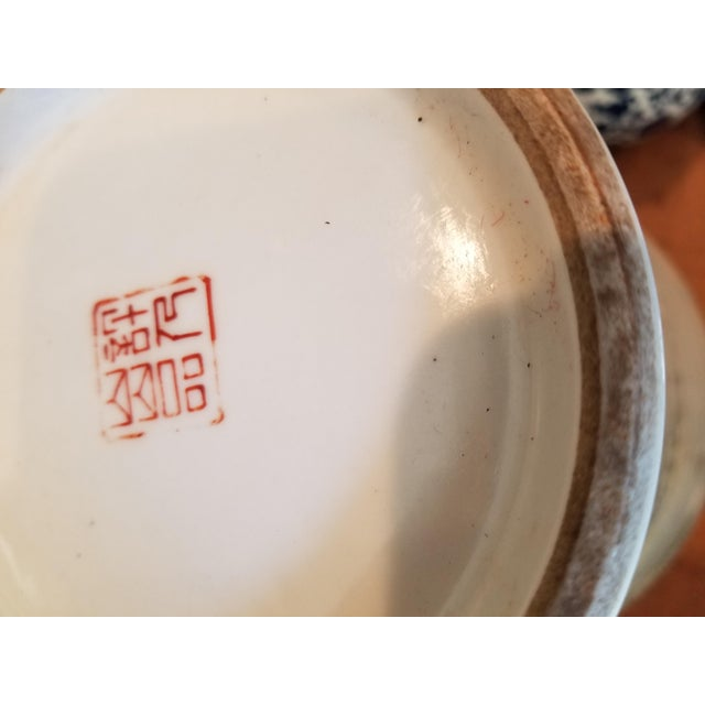 Ceramic Vintage Chinese Winter Scene Vase For Sale - Image 7 of 8