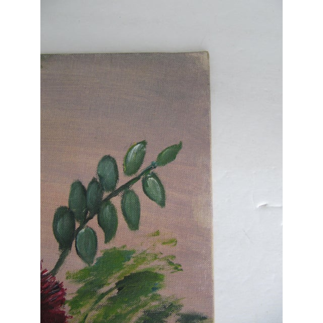 Mid-Century Still Life Painting With Flowers - Image 6 of 8