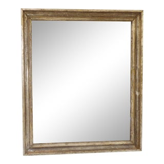 19th Century Traditional Dark Silverleaf Mirror For Sale