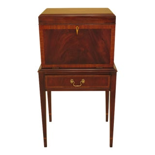 Federal Henkel Harris Inlaid Mahogany Silver Chest For Sale