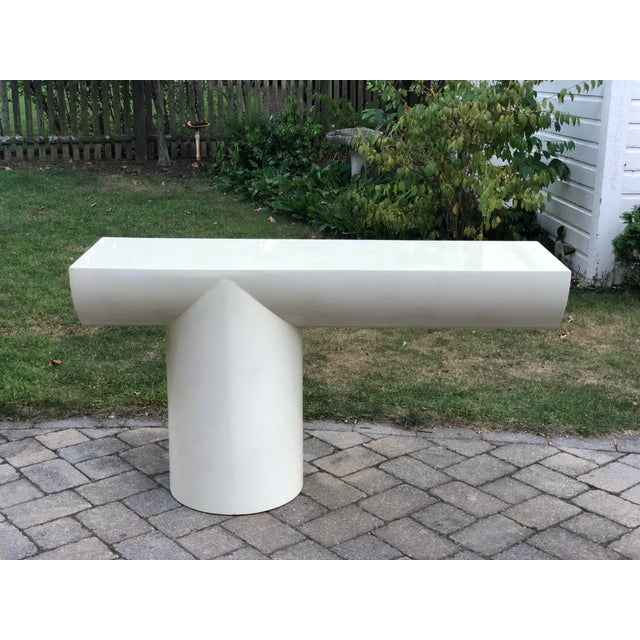 """1970s 1970s J. Wade Beam """"Tee"""" Console Table for Brueton For Sale - Image 5 of 13"""