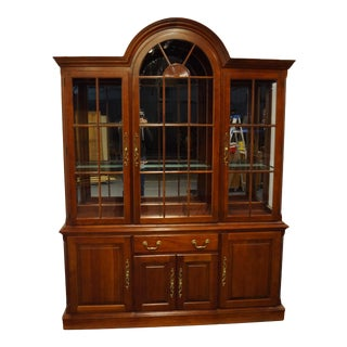 Pennsylvania House Cherry Traditional Illuminated China Cabinet For Sale