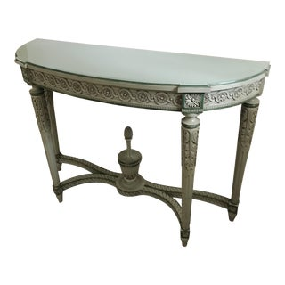 Neoclassical Demi Lune Table
