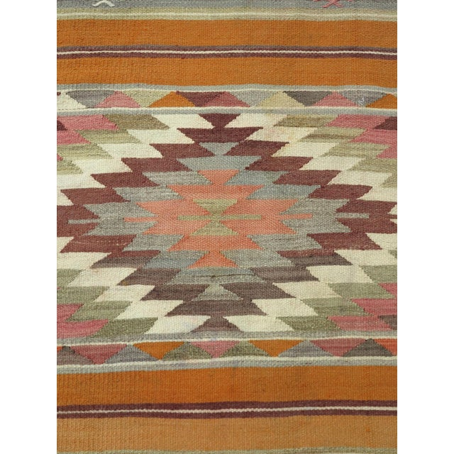 "Anatolian Kilim Runner Pastel Colored Hallway -2'1'x10"" For Sale - Image 6 of 13"