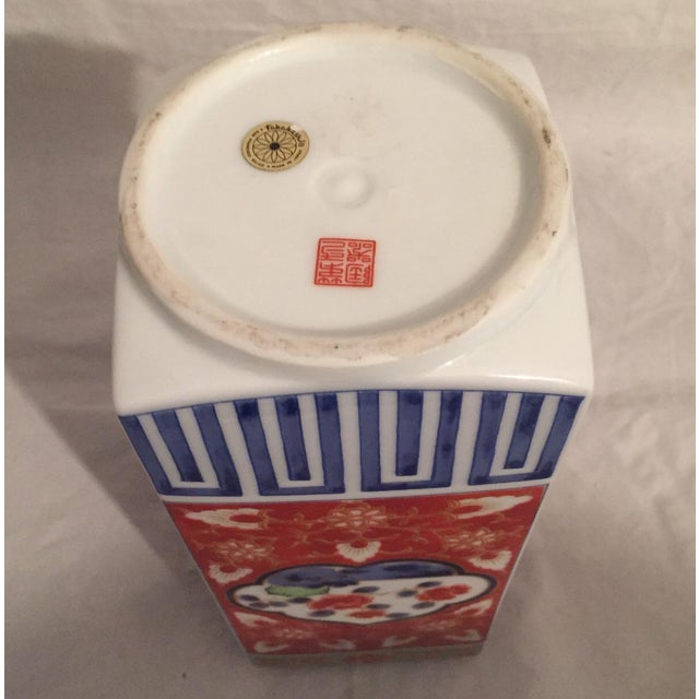 Contemporary Japanese Imari Porcelain Column Vase For Sale In Los Angeles - Image 6 of 7